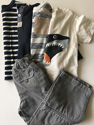 Boys Lot Long Short Sleeve Shirts Cargo Pants Size 3T Navy Blue Grey White Shark
