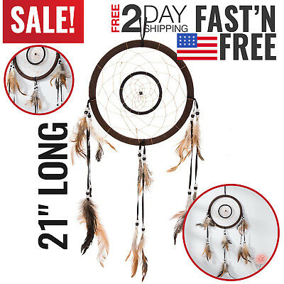 Dream Catcher Native American Authentic Handmade Feather Wall Hanging Bedroom