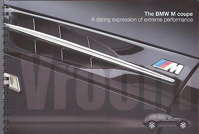 1998 BMW 3.2 M Coupe 24 page brochure, US Market, $6 free shipping