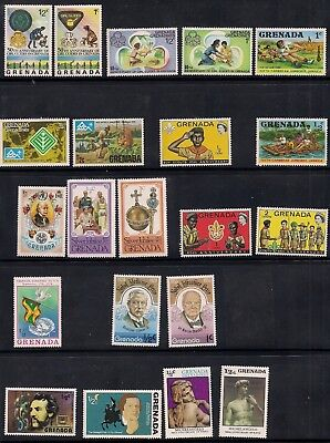 Grenada collection - 21 stamps MNH mostly Boy Scouts and Girl Guides