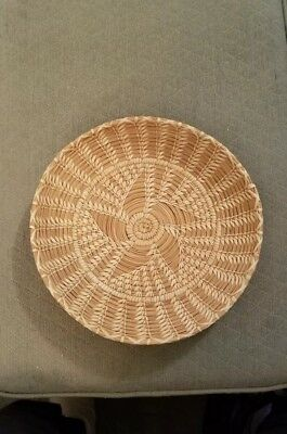 Native American Woven Bowl, Star Pattern 11 1/2""