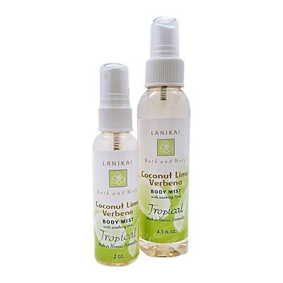 *Hawaii Organic Lanikai Bath and Body Company*-  Body Mist. Coconut Lime Vebena