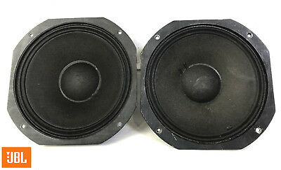 "JBL 2123H Midrange 10"" 8-ohm Speaker PAIR - Tested Strong Rated DCR's: 4.3 / 4.5"