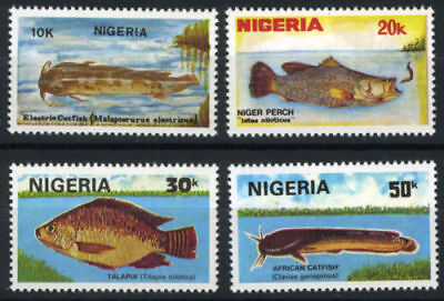 Nigeria 1991 Mnh Set Fish