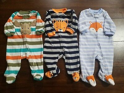 Baby Boy Clothes Lot Of 3 Sleepers 3 Months