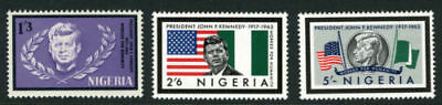 Nigeria 1964 Mnh Set President Kennedy Stamps