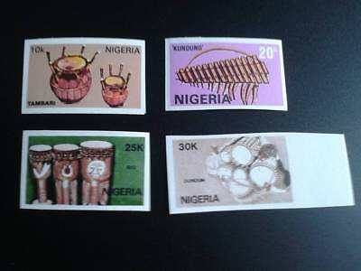 Nigeria 1989 Mnh Set°°°Error Imperforate°°°Musical Instruments
