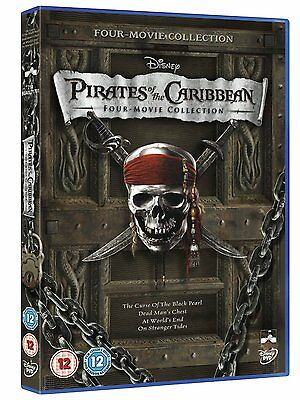Pirates Of The Caribbean: Four Movie Collection - UK Region 2 DVD - Johnny Depp