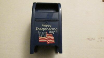 US Postal  Service  4th of July Mailbox Bank/Stamp holder   Vintage