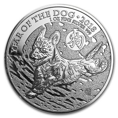 Silver Coin UK Lunar - Year of the Dog 2018 - 1 oz 99.9 % pure silver