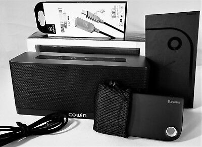[+Free Fast 2-in-1 Baseus Cable] COWIN 3119 Bluetooth Speaker w/ Amazon Alexa