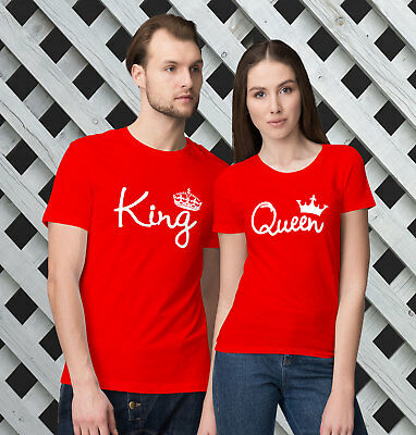 1dff5c689 King and Queen T-Shirts -Valentine's Day Matching T-Shirts for Couples!
