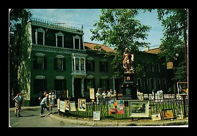 Dr Jim Stamps Us Indian Statue Schenectady New York Art Sale Postcard