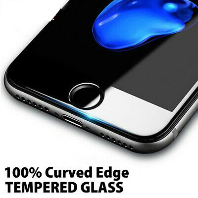 For Apple iPhone 7 8 Plus Case - 5D Full Clear Tempered Glass Screen Protector