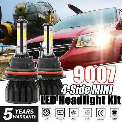 9007 HB5 LED Headlight Kit 1700W 4-Side Hi/Low Bulbs For Dodge Caravan 2000-2005