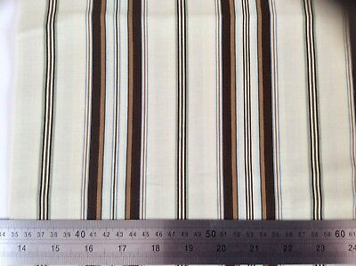 Berkley Sq by Michele D'Amore for Benartex. Brown stripes on fawn. 1 FQ