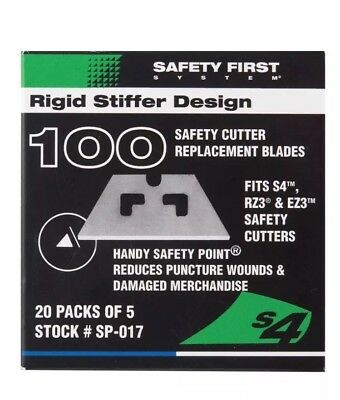 Pacific Handy Cutter SP-017 Safety Point Replacement Blades - 100 Blades - NEW