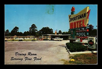 Dr Jim Stamps Us Sportsman Motel Callahan Florida Chrome Postcard