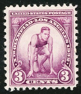 Dr Jim Stamps Us Scott 718 3C 10Th Olympiad Unused Og Hinged No Reserve Crease