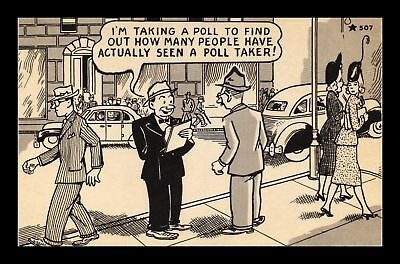 Dr Jim Stamps Us Poll Taker City Street Comic Star Postcard