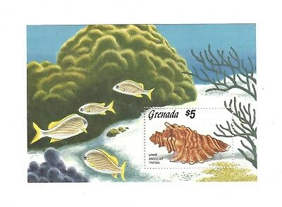 STAMP SHEET mint GRENADA MARINE LIFE $5