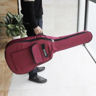 """40"""" 41"""" Red Acoustic Guitar Padded 5mm Soft Case Gig Bag Backpack Double Straps"""