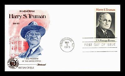 Dr Jim Stamps Us President Harry S Truman First Day Cover 1973 Independence