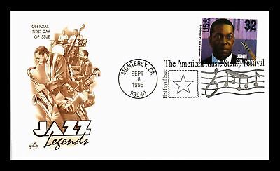 Dr Jim Stamps Us Jazz Legend John Coltrane Fdc Cover 1995 Art Craft Cachet