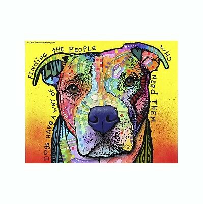Pit Bull Dogs Have A Way Of Finding Dean Russo Vinyl Dog Car Decal Sticker