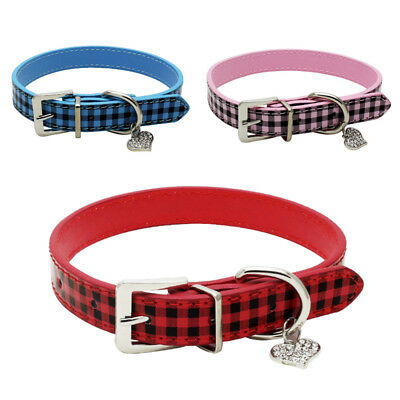 Fashion DIY Personalised Leather Collar Pet Dog Cat Puppy Kitten Bling Gloss