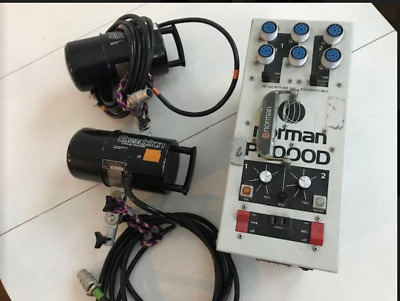 Norman P2000D Flash Power Pack and two Speedotron lamp heads (converted)