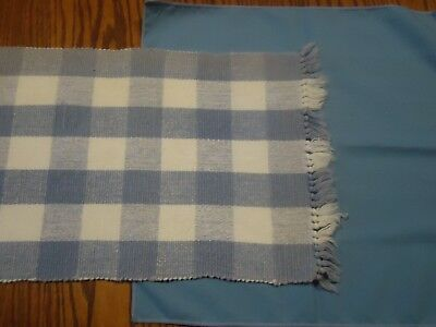 Placemat (Blue & White), Napkin (Blue), 1 of Each, Great Shape
