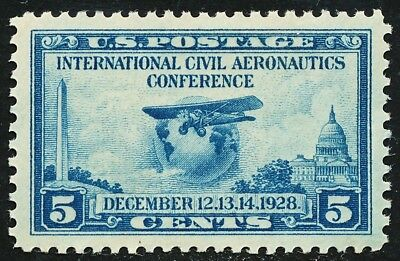 Dr Jim Stamps Us Scott 650 5C Aeronautics Conference Unused Og Hinged No Reserve