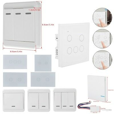Wireless Remote Control Switch 86 Type Wall Panel Transmitter 1-3Ways Receiver