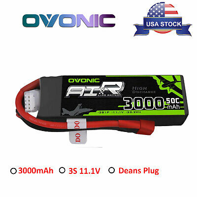 Ovonic 3000mAh 3S 11.1V 50C 100C Lipo Battery Power Pack Deans Plug For RC Drone