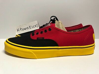 188d10645ce512 VANS AUTHENTIC DISNEY Mickey Red Yellow Men s Size 13 -  79.99 ...