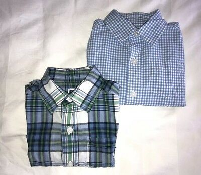 Janie And Jack Baby Boys Shirts Collared Plaid Gingham 6-12 Months