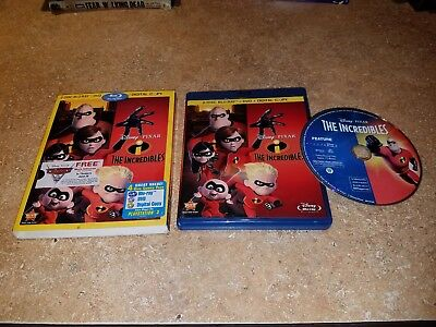 The Incredibles (Blu-ray, 2011, 2-Disc Set, w/ SLIPCOVER) EXCELLENT CONDITION