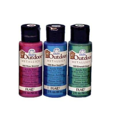 Plaid FolkArt Outdoor Metallics 2oz 59ml Plaid