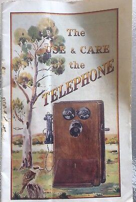Old Antique Booklet Use Care Of Telephone Australia Post Office Issue