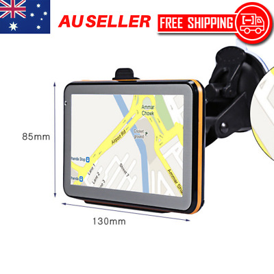 Car Truck GPS Navigator Map System Touch Screen Bluetooth Voice Navigation 5 AU