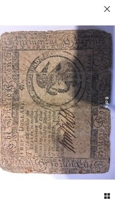 1776 Philadelphia May 9 Three dollar COLONIAL CURRENCY