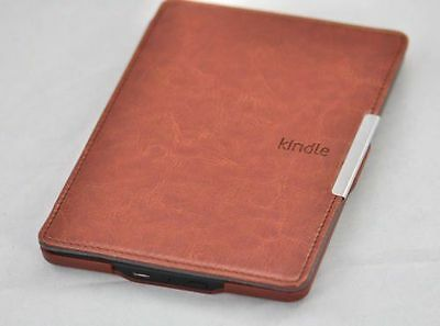 Brown Smart Automatic Wake PU Leather Case Cover For AMAZON Kindle Paperwhite
