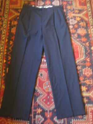 """Vintage Retro Wool Pants to with Suspender Buttons & Cuffs Size W 34"""" L 33"""""""