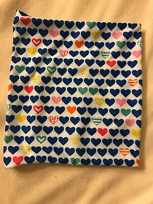 Fabric Heart Pattern Book Cover