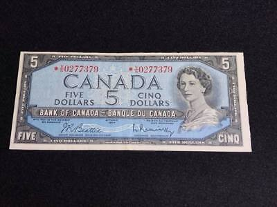 """1954  Canadian  $5 Bill """" Replacement Note"""""""