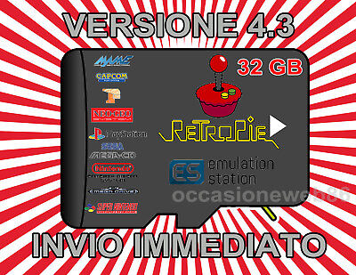 32GB Retro Gaming Console Retropie Arcade Raspberry Ver. 4.3 OFFERTA 2019