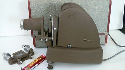 Stunning Vintage Vumax Slide Projector With Case and Accesories Ennar Munchen Le