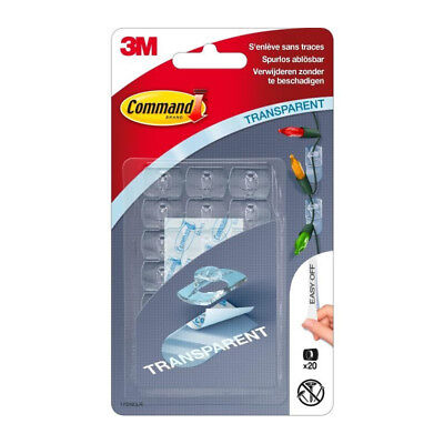 3M COMMAND Crochet clear déco clip - Transparent