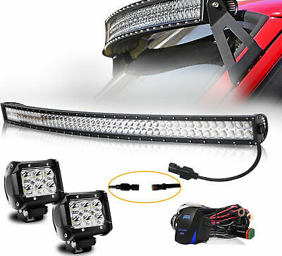 """For 50"""" Curved LED Light Bar Mount Brackets for 1984-2001 Jeep XJ Cherokee"""